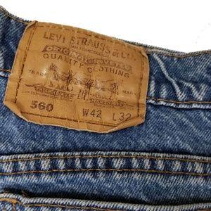 Levi's Jeans - Levis 560 42x32 Loose Comfort Fit Blue Jeans
